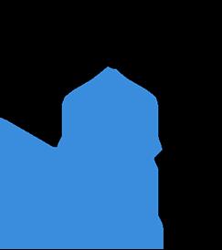 Icon logo in black